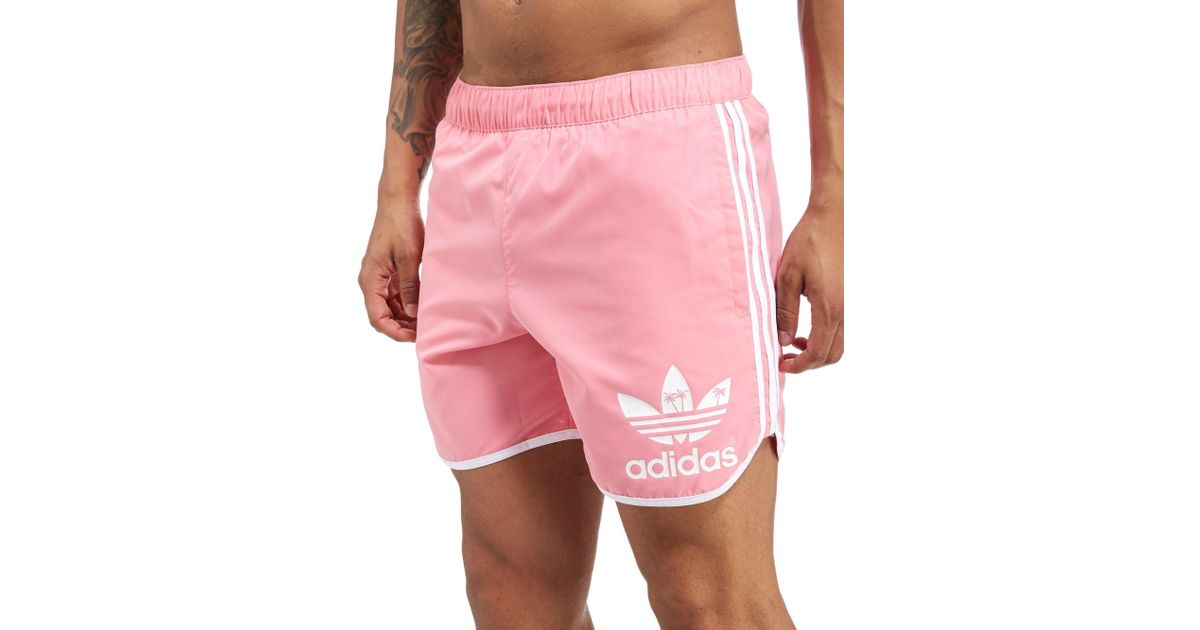 For Men Pink Originals In 5ar43jlq Adidas Shorts Palm Lyst eWYHIE9D2