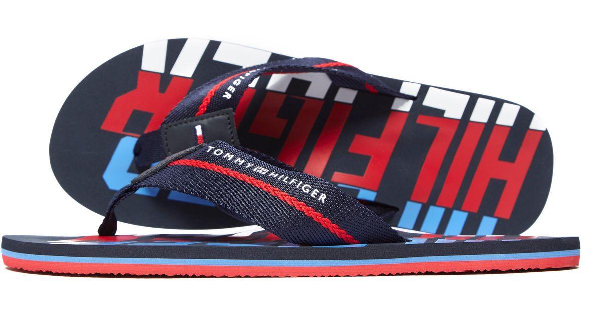 367528a1d1f37 Lyst - Tommy Hilfiger Bold Beach Sandal in Blue