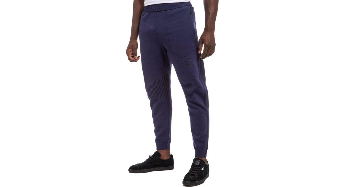 757ee3960456 Lyst - PUMA Evostripe Proknit Pants in Blue for Men