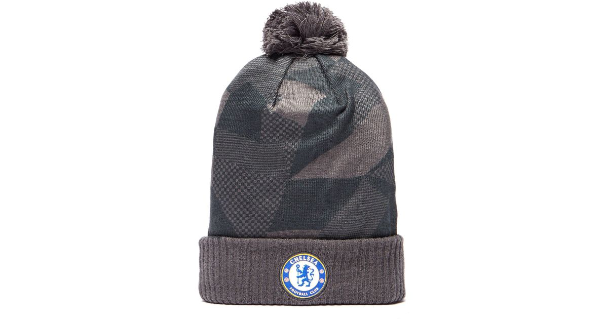 257c54147a8 Nike Chelsea Fc Beanie Hat in Gray - Lyst