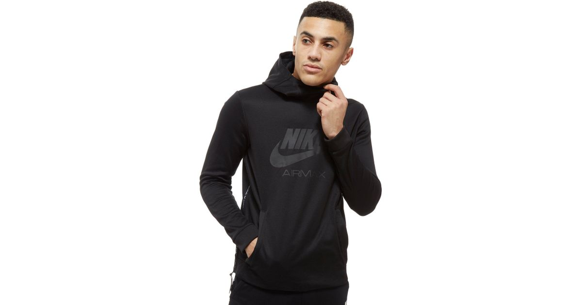 top quality limpid in sight popular brand Nike Black Air Max Poly Hoodie for men