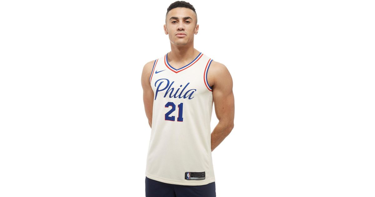 meet 6bb24 0c899 76ers city jersey