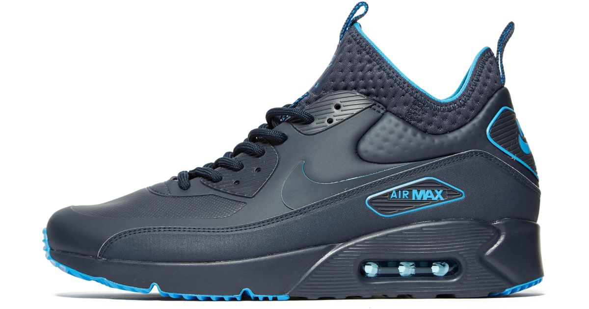sale retailer 94dcd 60f67 ... squadron bleu dark grey bright citrus noir tkb 606607 382d6 d3f1e   reduced lyst nike air max 90 ultra mid winter se in blue for men f6983 4b3fa