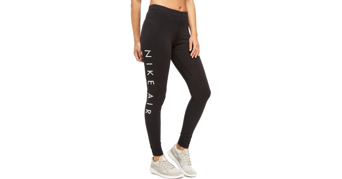 99de8c96b3a0e Nike Air Leggings in Black - Lyst