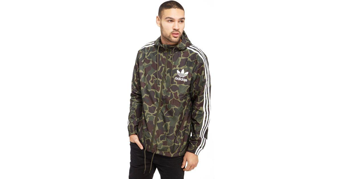6b147e09698c5 adidas Originals Trefoil All Over Print Lightweight Jacket in Green for Men  - Lyst
