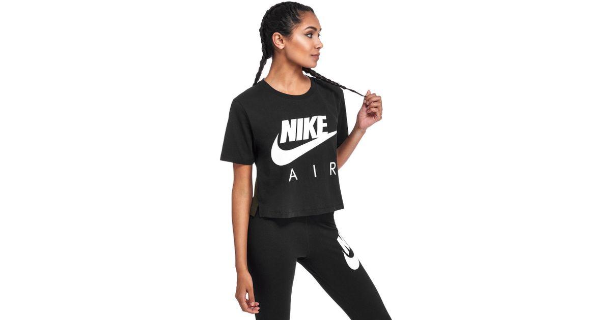 784c53121ee79 Lyst - Nike Air Crop T-shirt in Black