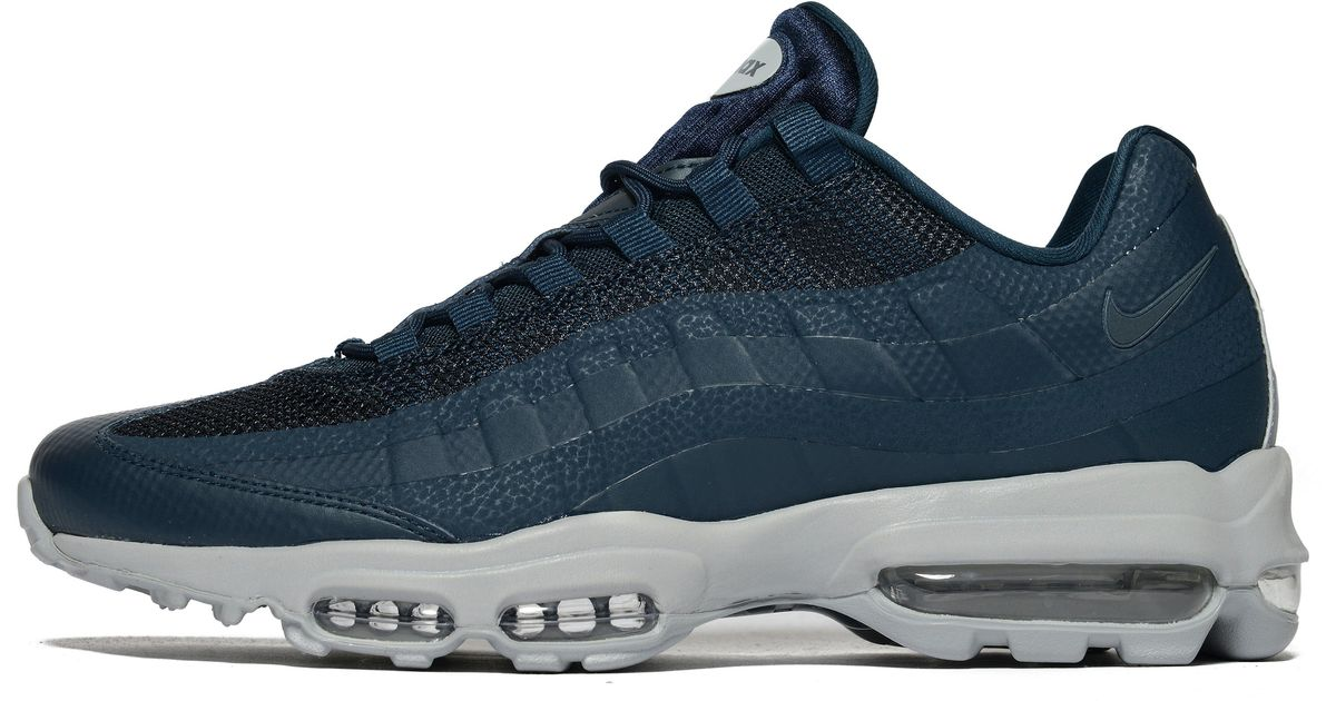 605fe66652e ... greece lyst nike air max 95 ultra essential in blue for men ce76a d71ca