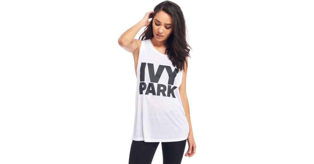 1277a080f1507c Lyst - Ivy Park Muscle Tank Top in White