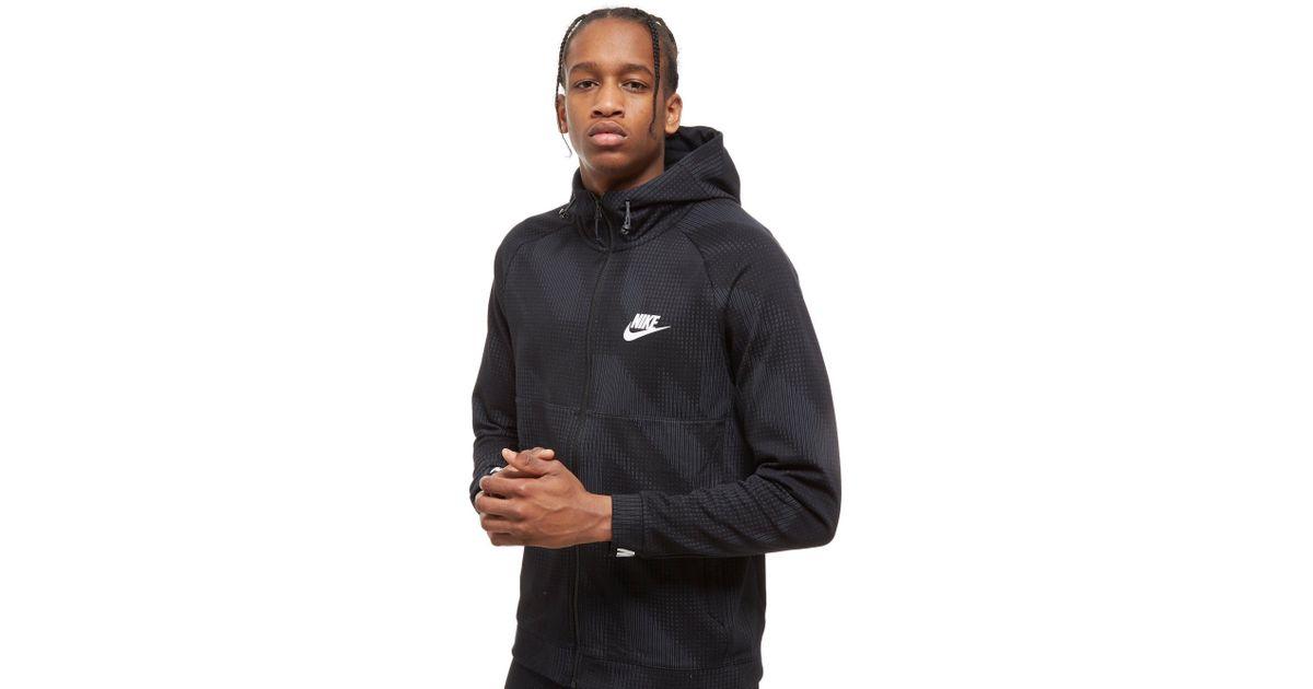 bad71fa63e5f Nike Advance All Over Print Full Zip Hoodie in Black for Men - Lyst