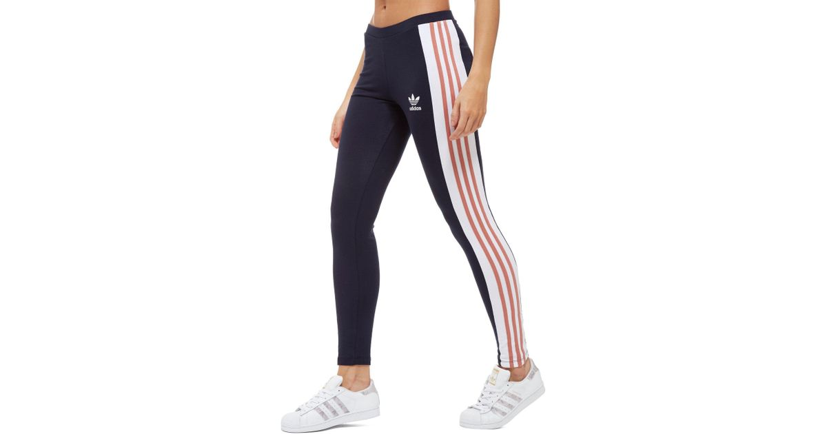 size 40 eadac 65dac adidas Originals 3-stripes Panel Leggings in Blue - Lyst