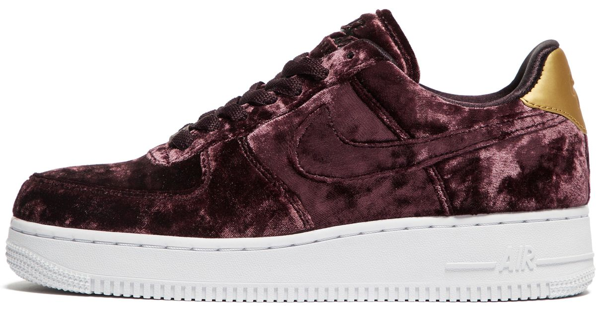 size 40 64ccc 7b419 ... greece nike air force 1 velvet in red lyst 034a6 60fad