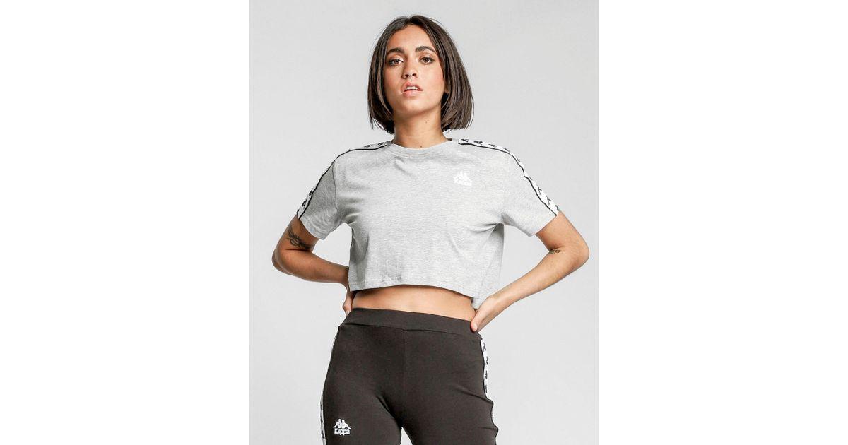 b32ac6b23ff8b2 Kappa Apua Crop T-shirt in Gray - Lyst