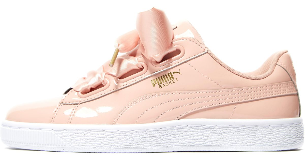 sports shoes 02d3f 99bf8 PUMA - Pink Basket Heart Patent - Lyst