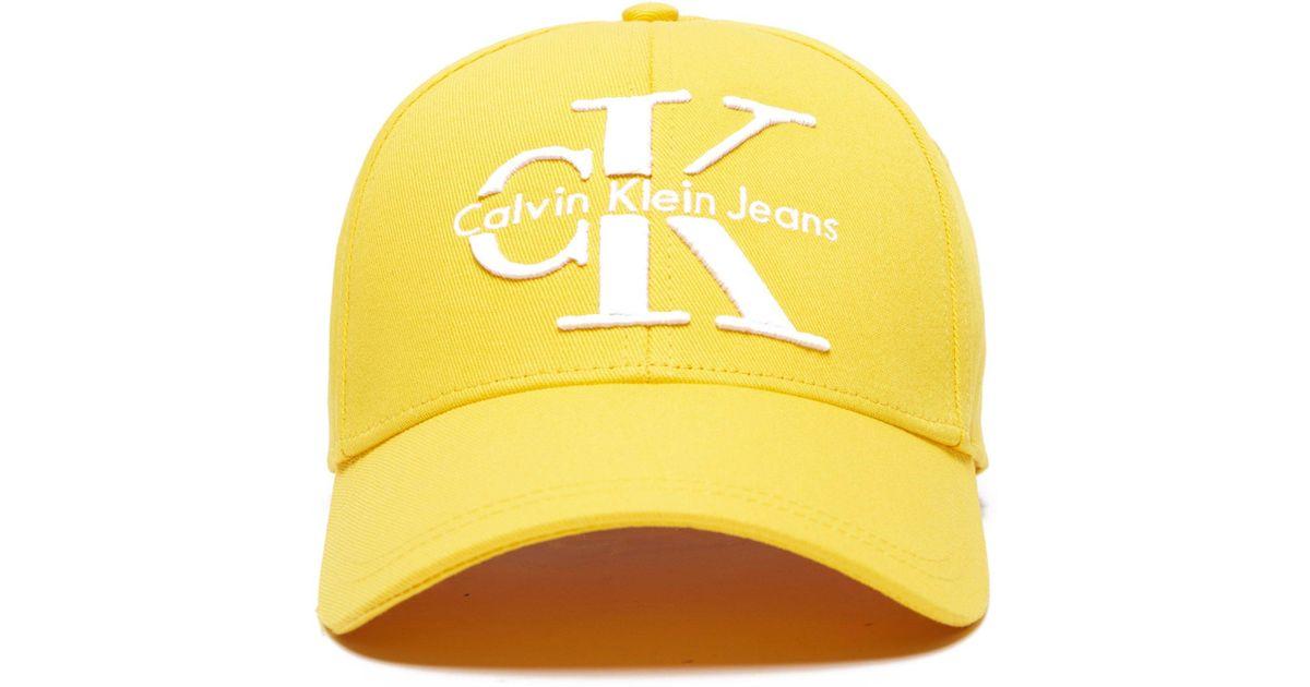 50f86b69bdd CALVIN KLEIN 205W39NYC Jeans Reissue Cap in Yellow for Men - Lyst
