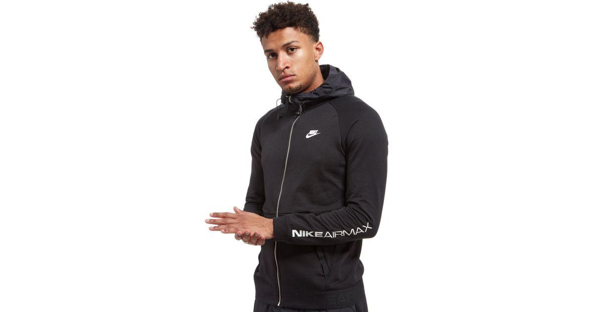 f83f46f6817e Lyst - Nike Air Max Ft Full Zip Hoodie in Black for Men