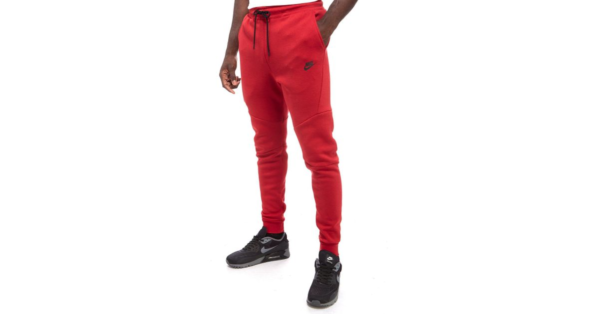 ba72ba56 Nike Tech Fleece Pants in Red for Men - Lyst
