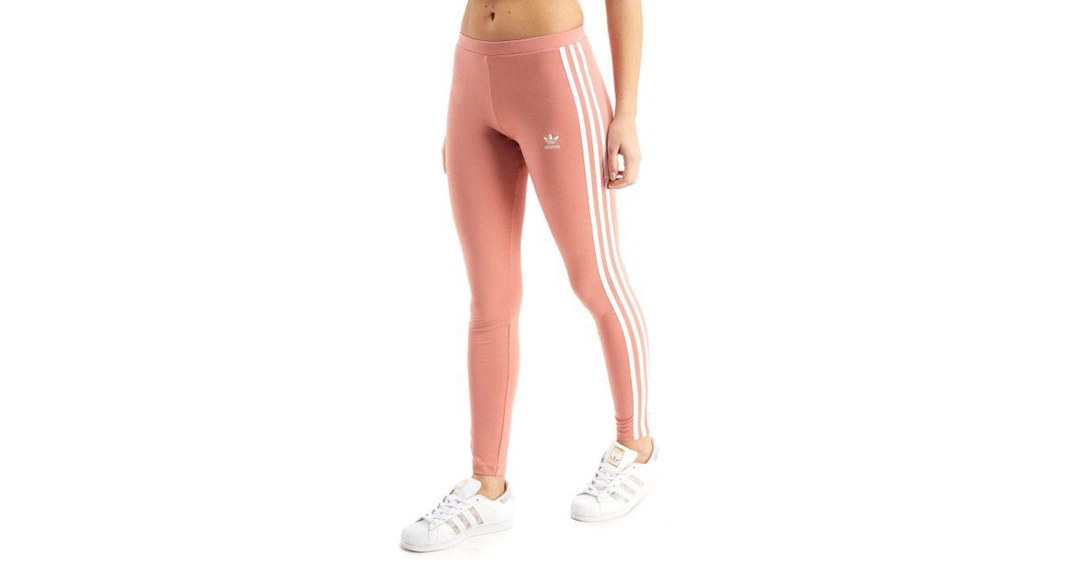 Adidas Pink 3 stripes Leggings