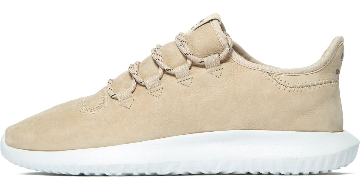 the best attitude 56722 9e01c Lyst - adidas Originals Tubular Shadow Leather in Brown