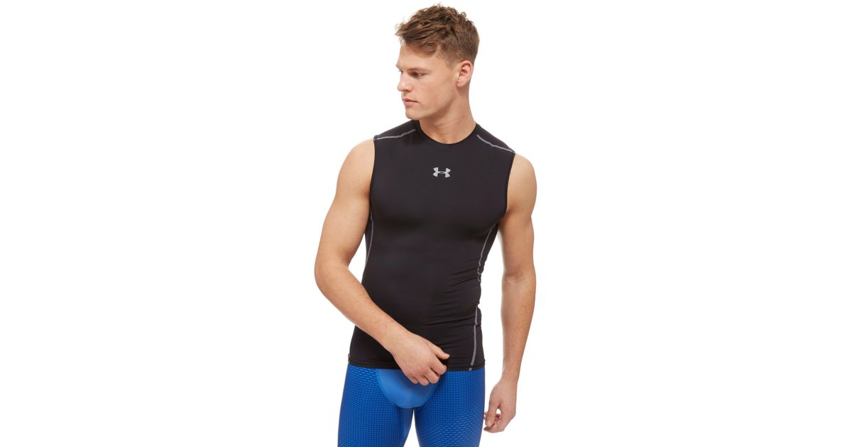 e3f429d87 Under Armour Heatgear Armour Sleeveless Compression Shirt in Black for Men  - Lyst