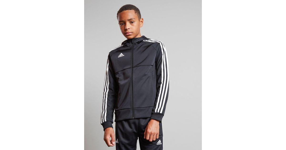 2e21aecec lower price with Lyst - Adidas Tango Full Zip Woven Hoodie Junior in Black  for Men  most popular Pharrell Williams ...