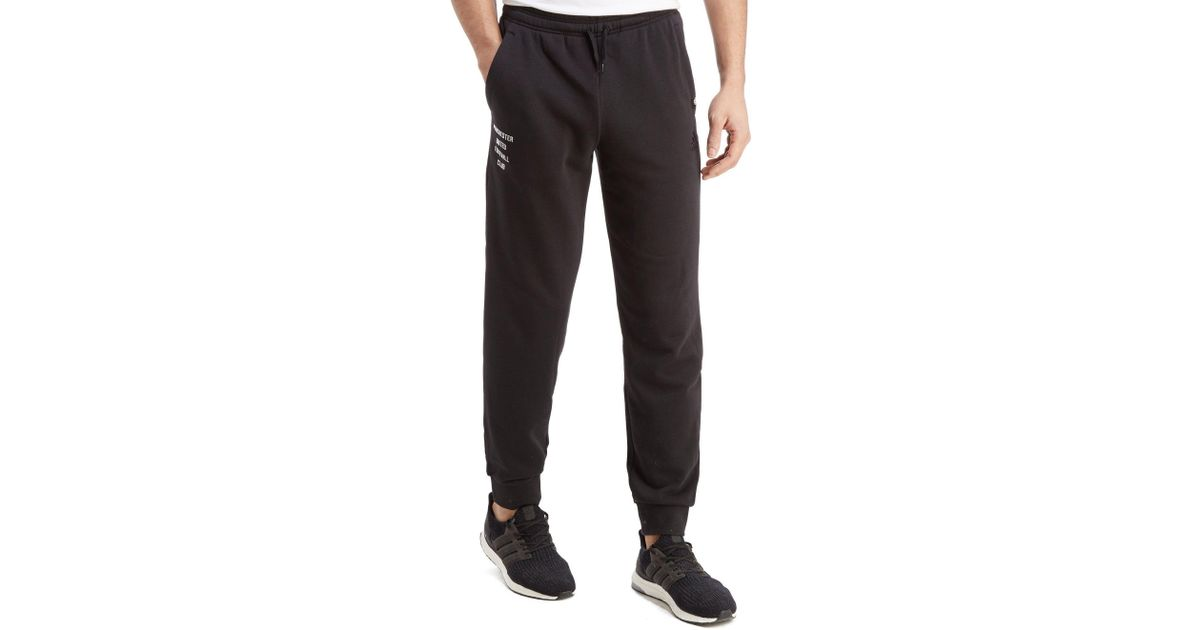 Adidas Black Manchester United Sweat Pants For Men Lyst