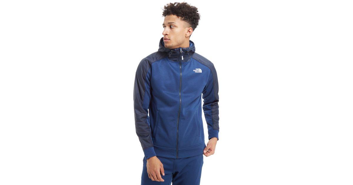 Lyst - The North Face Mittellegi Full Zip Hoodie in Blue for Men e3cd2bbe2d