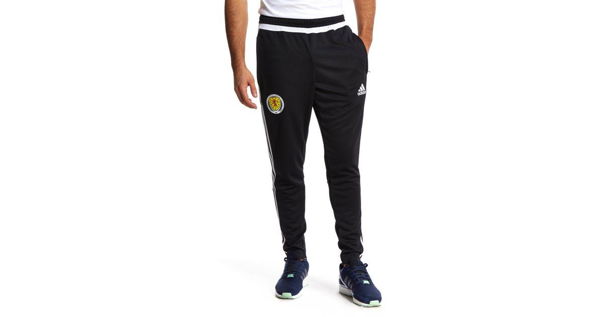 884e4df0372de7 adidas Scotland Fa 2015 16 Training Pants in Black for Men - Lyst