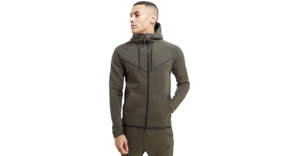 8e6e0506f4 Lyst - Nike Tech Fleece Windrunner Full Zip Hoodie in Green for Men
