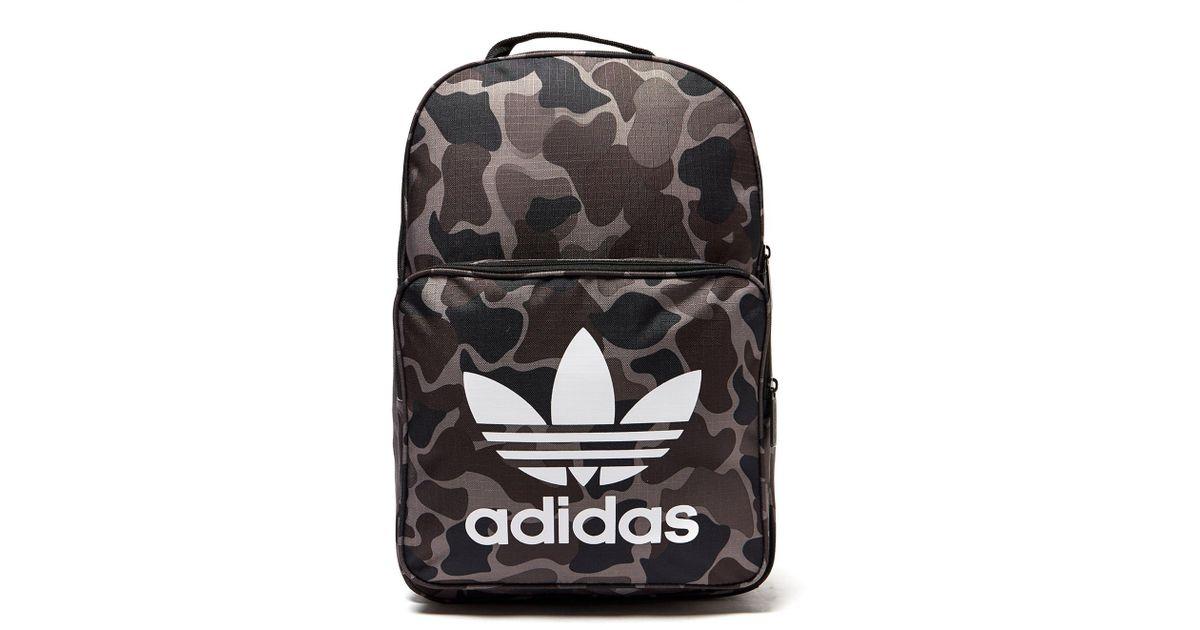 Lyst - adidas Originals Classic Camo Backpack in Black for Men 04f641c9b024c