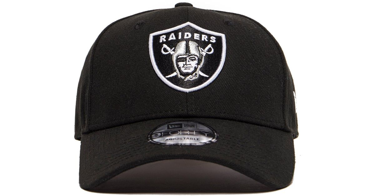 1d021d83c8a Lyst - KTZ Oakland Raiders 9forty Cap in Black for Men