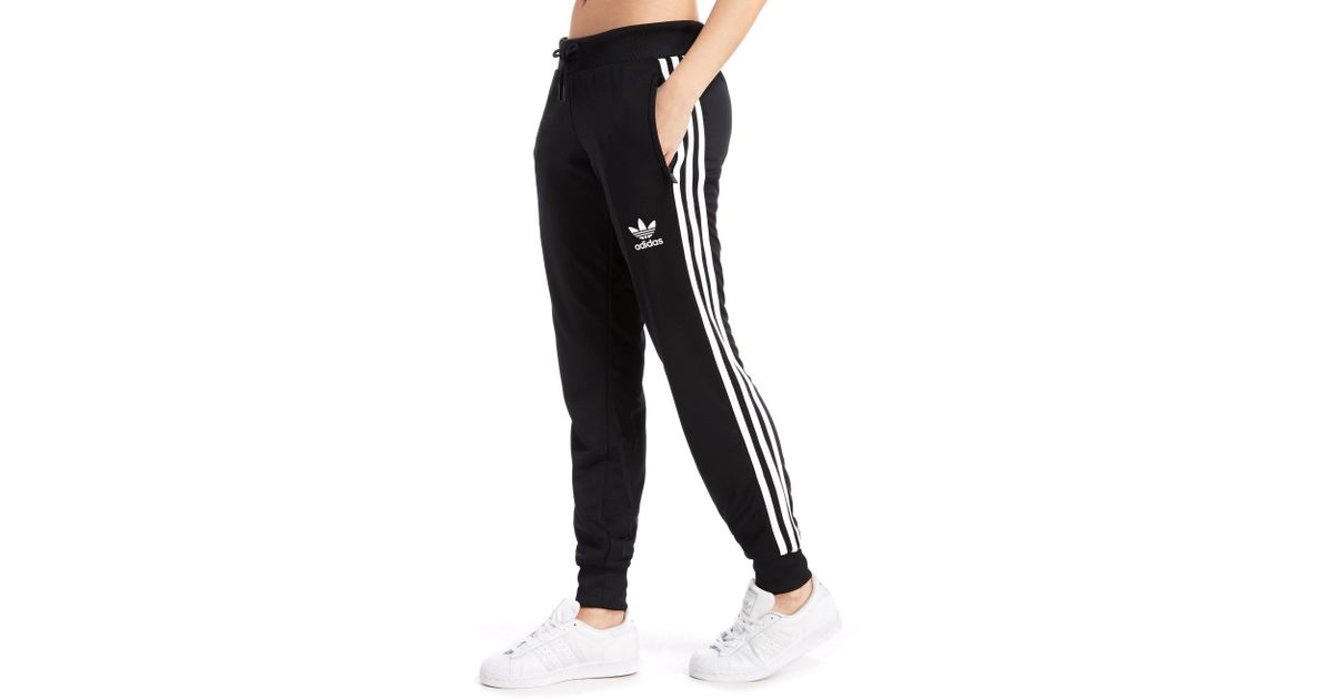 7c207fdba5cb Lyst - adidas Originals Poly 3-stripes Pants in Black