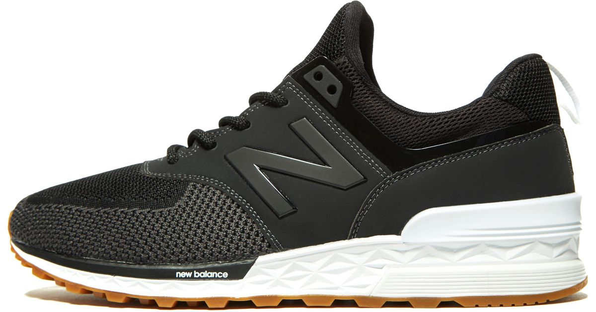 ead48bd859c71 New Balance 574s Knit in Black for Men - Lyst