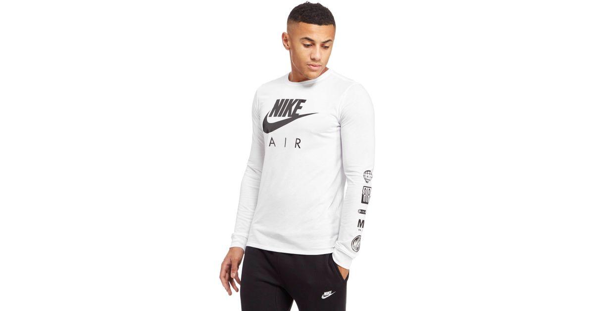 cd48696019db Lyst - Nike Hybrid Long Sleeve T-shirt in White for Men