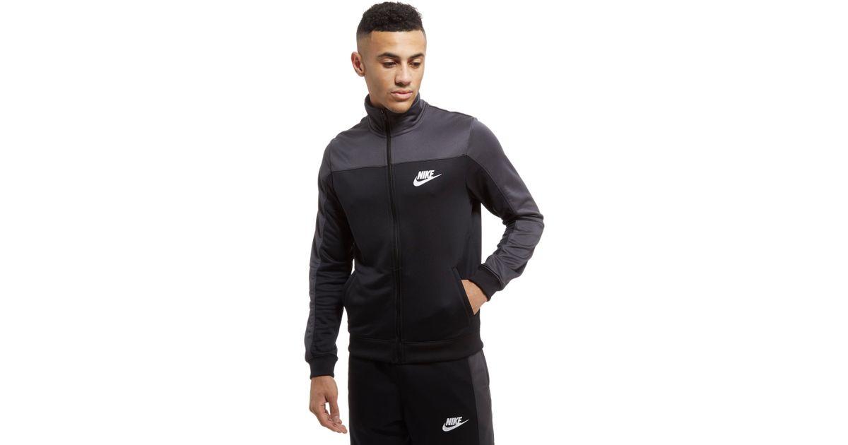877ab1f0e8 Lyst - Nike Season Colourblock Poly Track Top in Black for Men