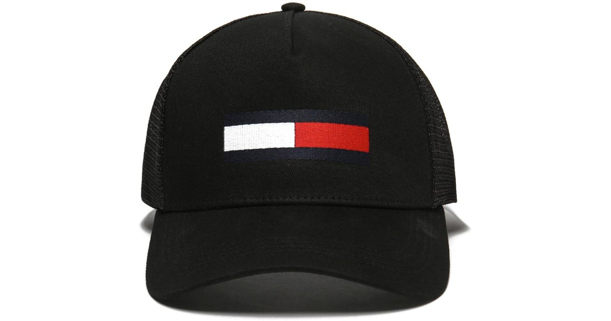 Lyst - Tommy Hilfiger Trucker Cap in Black for Men