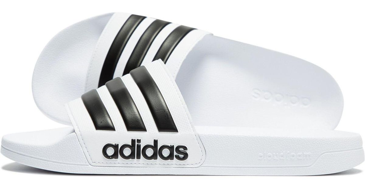 d1ed2d6bf8eed Lyst - adidas Cloudfoam Adilette Slides in White for Men