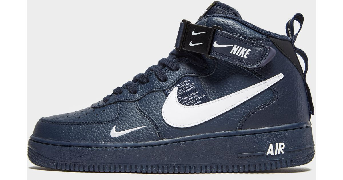 check out ab1e0 25928 Lyst - Nike Air Force 1 Utility Mid `07 Lv8 in Blue for Men nike
