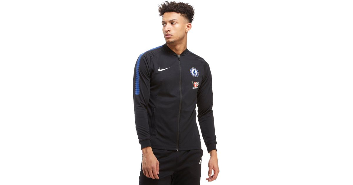 902d9c157 Nike Chelsea Fc Squad Track Jacket in Black for Men - Lyst