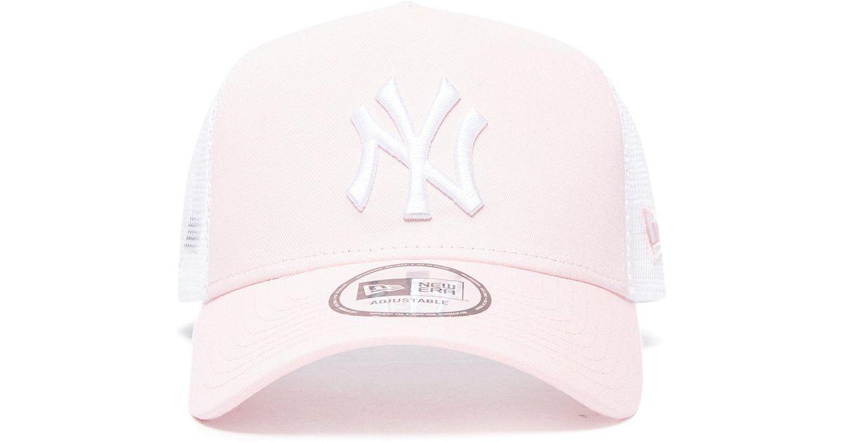 KTZ Mlb New York Yankees Snapback Trucker Cap in Pink - Lyst ba5d88d77f4