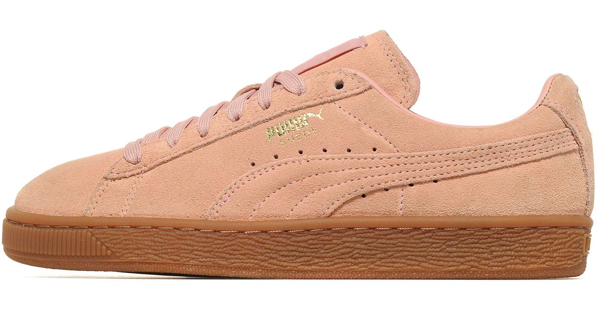 puma suede in pink lyst. Black Bedroom Furniture Sets. Home Design Ideas
