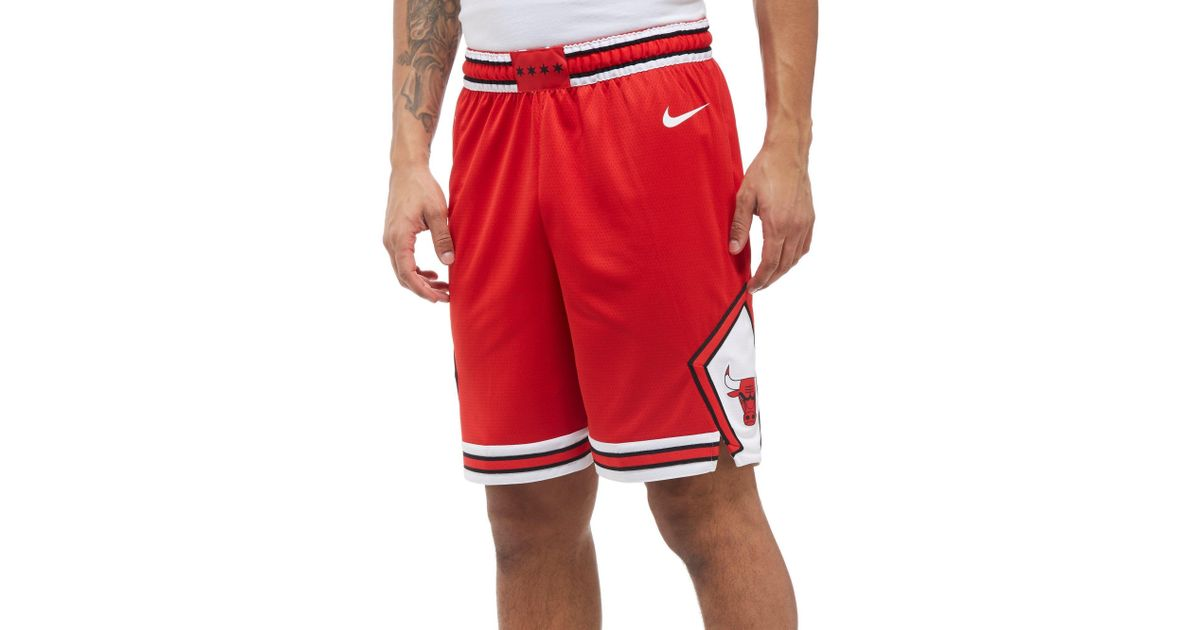 453466a6ad9 Lyst - Nike Nba Chicago Bulls Swingman Shorts in Red for Men