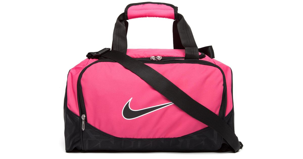 6115e7c5e7c2 Lyst - Nike Brasilia Medium Duffle Bag in Pink