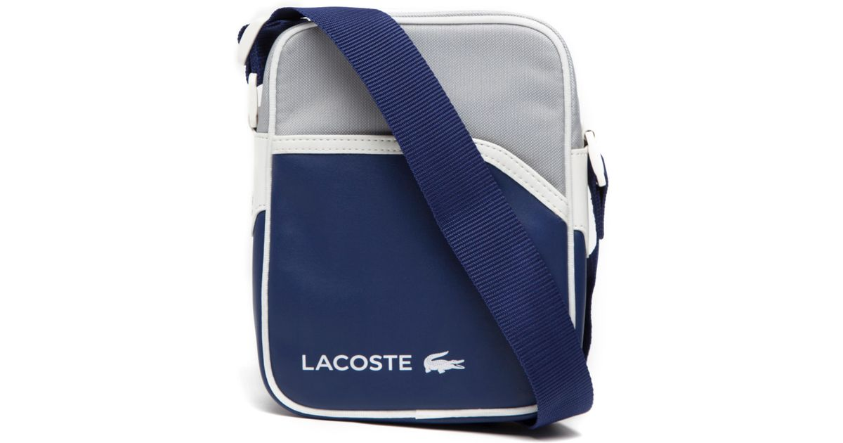 2c1c061d96 Lacoste Small Item Bag in Blue for Men - Lyst
