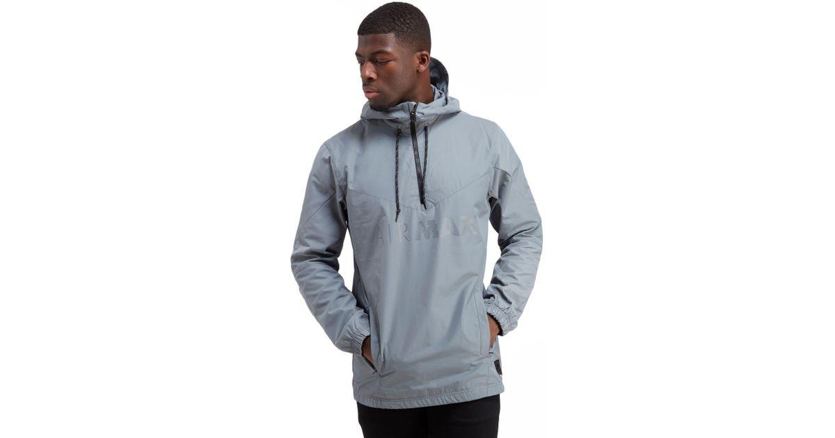08880081614159 Nike Air Max Half Zip Chevron Jacket in Gray for Men - Lyst