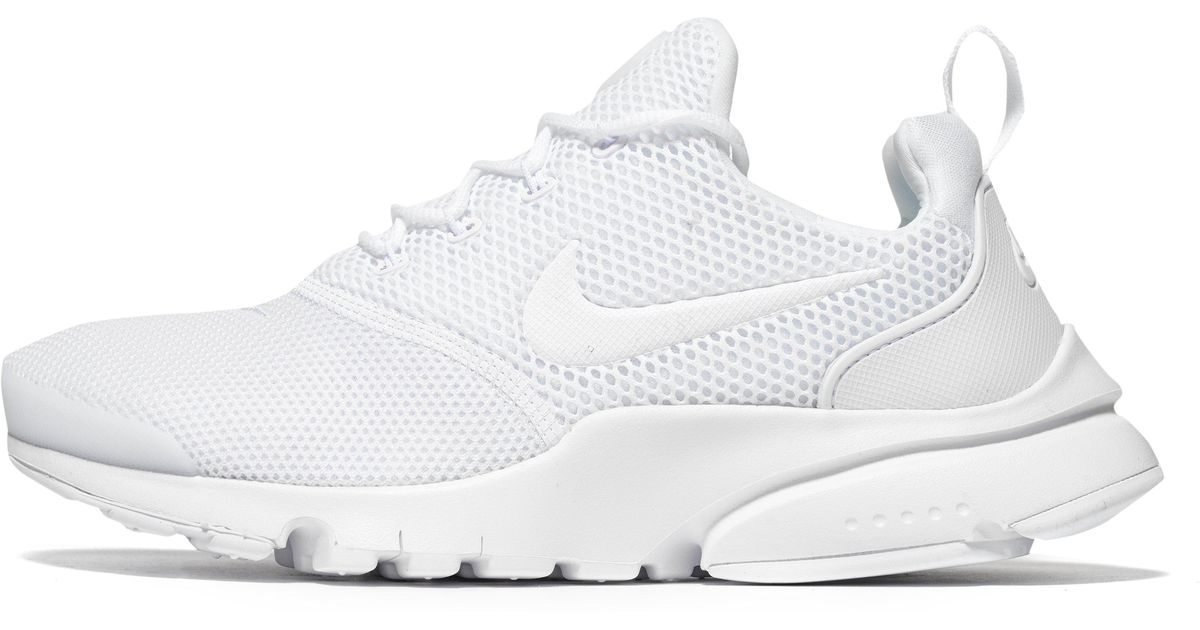 on sale d08b0 94016 Nike Air Presto Fly Junior in White - Lyst