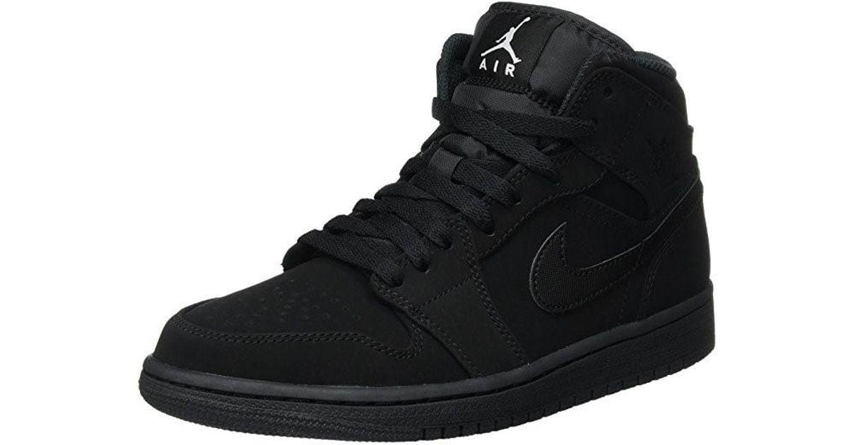 Lyst - Nike Air Jordan 1 Mid Sneakers 554724-040 Black white in Black for  Men 89ec6bdaf10d