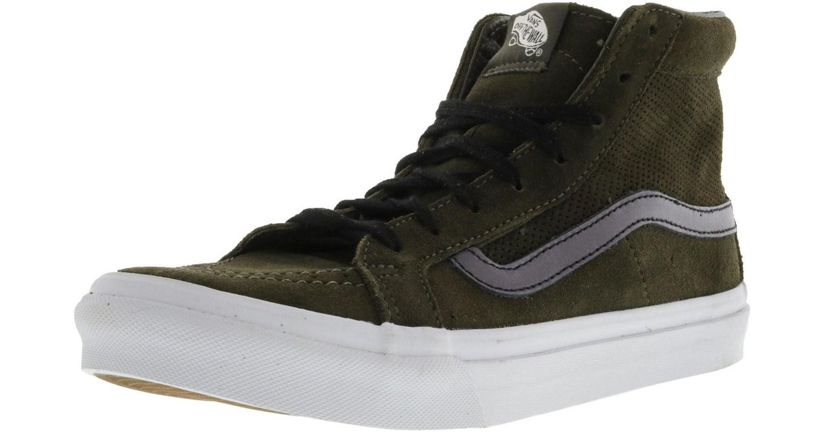 59a64fd9bf Lyst - Vans Sk8-hi Slim Cutout Perforated Suede High-top Skateboarding Shoe  - 6.5m 5m in Black for Men