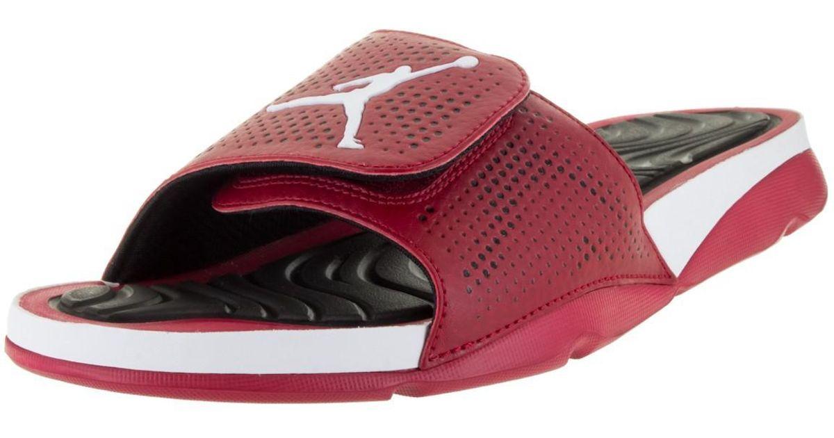 purchase cheap 3eb8c b701e Nike - Red Jordan Jordan Hydro 5 Gym Aj820257 601 for Men - Lyst