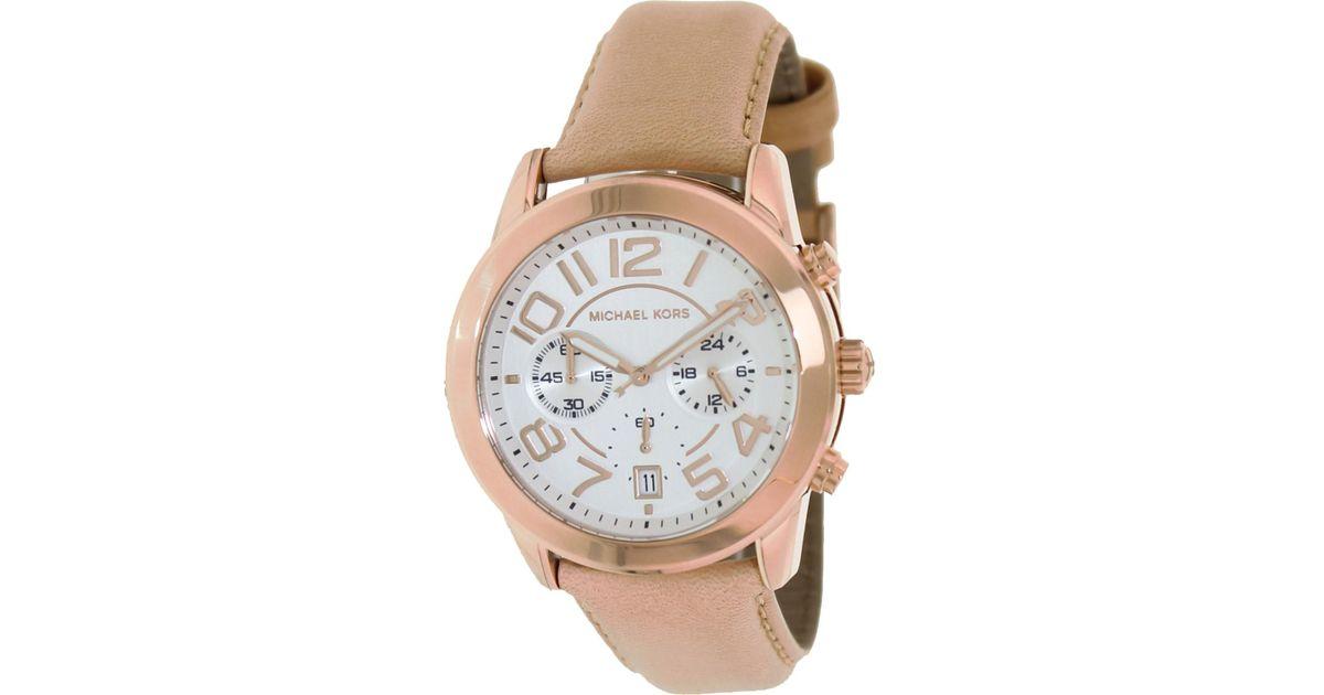7addcc453895 Lyst - Michael Kors Mk2283 Mercer Watch in Metallic