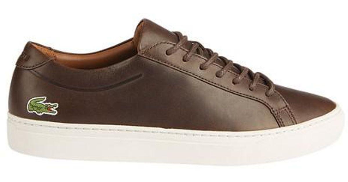 eca00e6a3332 Lyst - Lacoste L.12.12 Leather Sneaker in Brown for Men